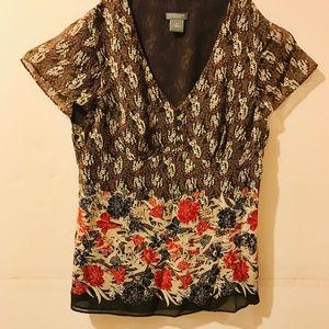 Ann Taylor floral top/blouse